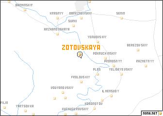 map of Zotovskaya