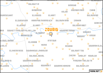 map of Zouaïd