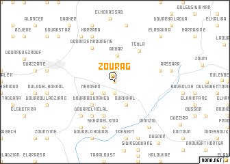 map of Zourag
