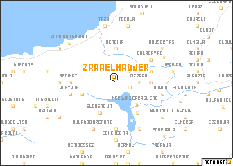 map of Zraa el Hadjer