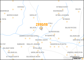 map of Zradna