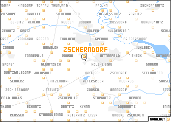 map of Zscherndorf
