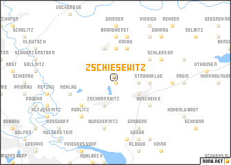 map of Zschiesewitz