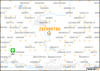 map of Zschortau