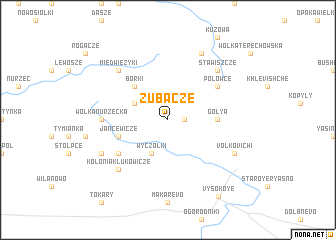 map of Zubacze