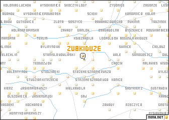 map of Zubki Duże