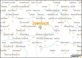 map of Zubki Duże