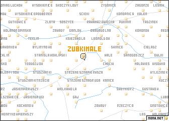 map of Zubki Małe