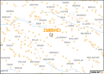 map of Zubovići
