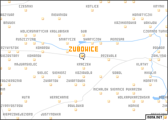 map of Zubowice