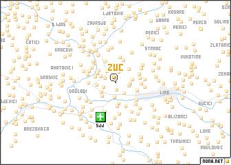 map of Žuč