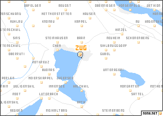 Zug Switzerland map nonanet