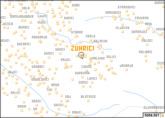 map of Zuhrići