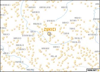 map of Zukići