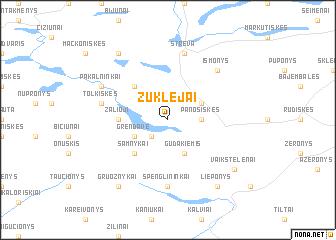 map of Žuklėjai