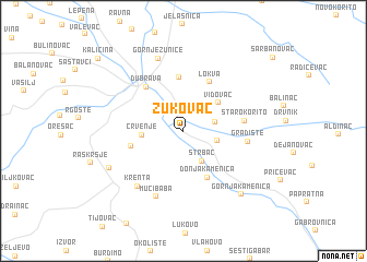 map of Žukovac