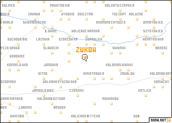 map of Żuków