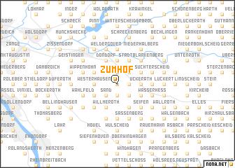 map of Zumhof