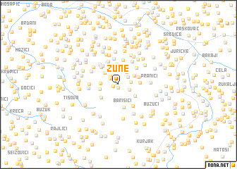 map of Žune