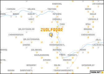 map of Z̄ū ol Faqār