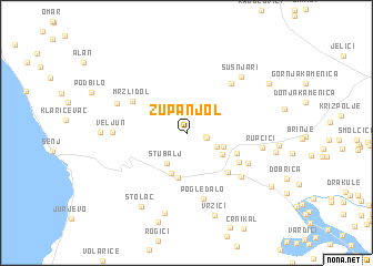 map of Županjol