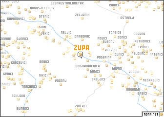 map of Župa