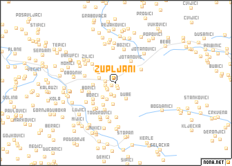 map of Župljani