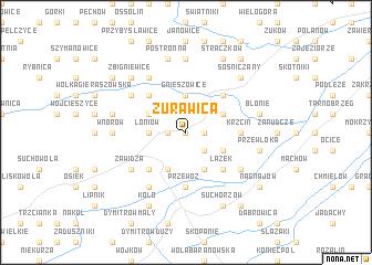 map of Żurawica