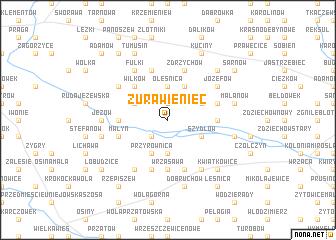map of Żurawieniec