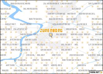Zurenborg Belgium map nonanet