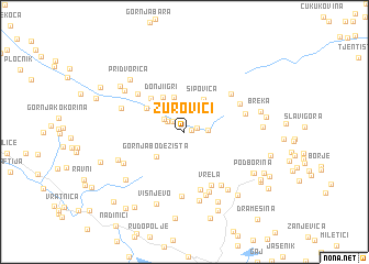 map of Zurovići