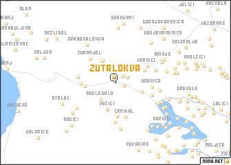 map of Žuta Lokva