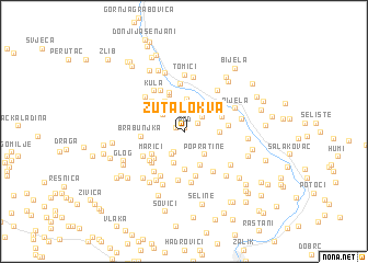 map of Žuta Lokva