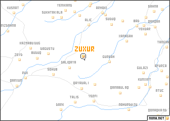 map of Zuxur