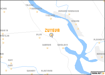 map of Zuyeva