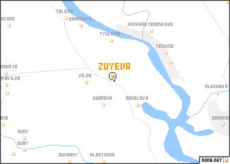 map of Zuyeva