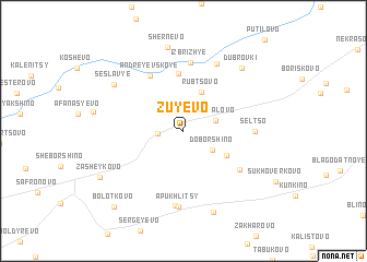 map of Zuyevo