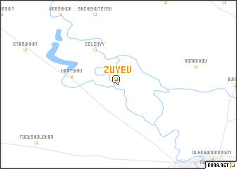 map of Zuyev