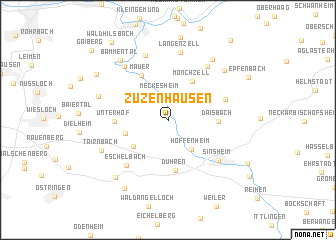 map of Zuzenhausen