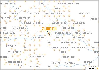 map of Žvabek