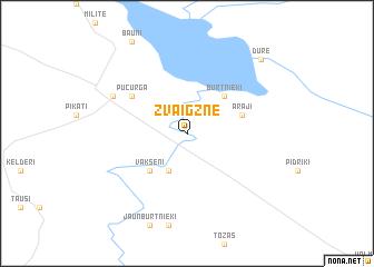 map of Zvaigzne