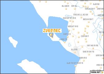 map of Zvërnec