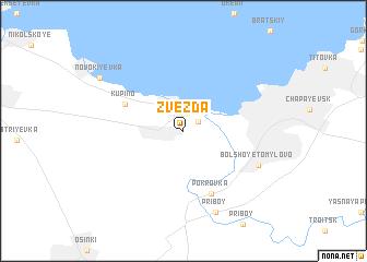 map of Zvezda