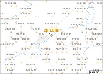 map of Žvilgiai