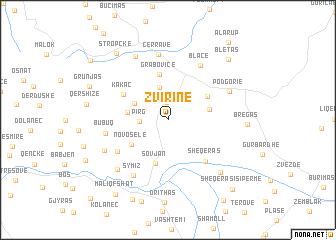 map of Zvirinë