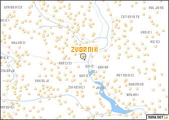 map of Zvornik