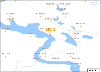 map of Zvoz