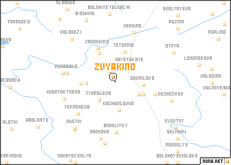 map of Zvyakino