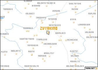 map of Zvyakino