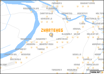 map of Zwarteweg